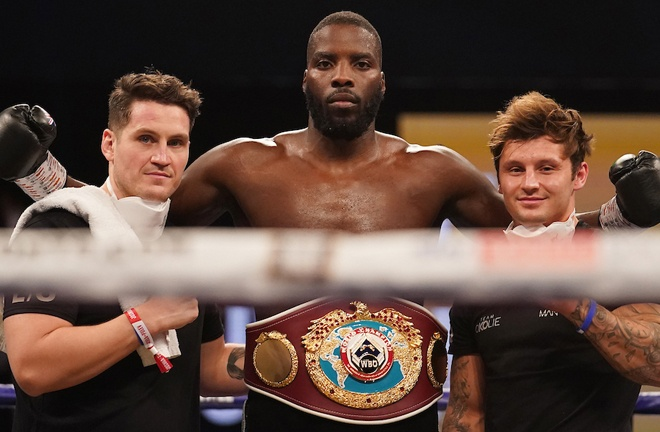 Okolie is set to receive a rescheduled world title shot against Krzysztof Glowacki in 2021 Photo Credit: Dave Thompson/Matchroom Boxing