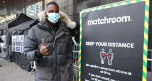 Lawrence Okolie arrived at the Matchroom Bubble ahead of his clash with Nikodem Jezewski Photo Credit: Ian Walton/Matchroom Boxing