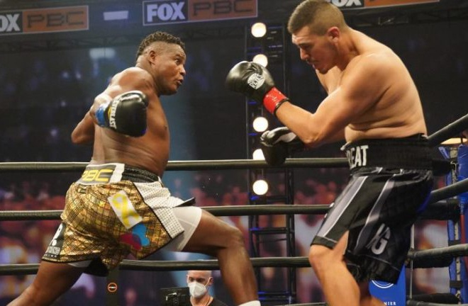 Ortiz bounced back from defeat to Wilder with a first round knockout of Alexander Flores in November Photo Credit: Sean Michael Ham / TGB Promotions