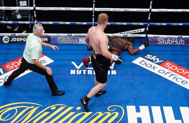 Alexander Povetkin's stunning knockout of Dillian Whyte was one of the stoppages of 2020 Photo Credit: Mark Robinson/Matchroom Boxing
