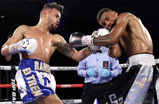 Two-time Olympic Gold medalist Robeisy Ramirez stopped Brandon Valdes Photo Credit: Mikey Williams/Top Rank via Getty Images
