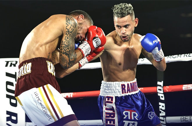 Double Olympic Gold medalist Robeisy Ramirez saw off Felix Caraballo in September Photo Credit: Mikey Williams / Top Rank