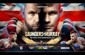 Billy Joe Saunders will make a second defence of his WBO Super Middleweight belt against Martin Murray in Wembley on Friday night