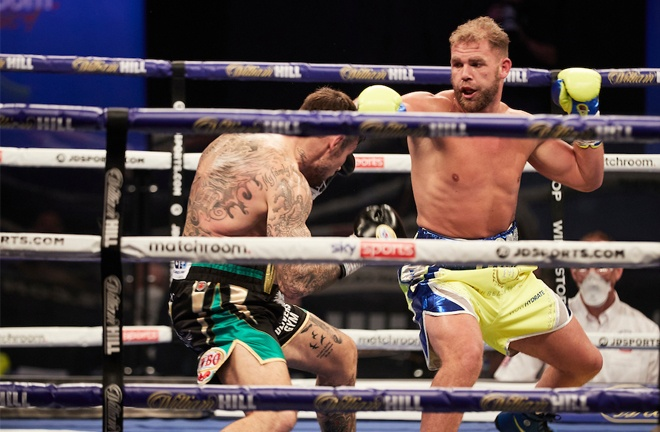 Saunders is believed to have a style which could the likes of Canelo and Golovkin Photo Credit: Mark Robinson/Matchroom Boxing