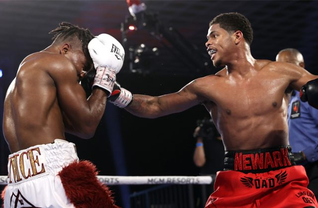 Shakur Stevenson breezed past Toka Kahn Clary over ten rounds in Las Vegas on Saturday Photo Credit: Mikey Williams/Top Rank via Getty Images