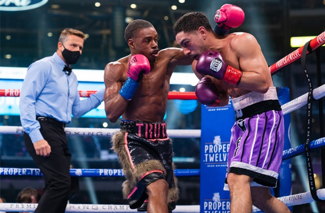 Spence dominated proceedings throughout against Garcia Photo Credit: Ryan Hafey/Premier Boxing Champions