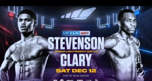 Shakur Stevenson faces Toka Kahn Clary in Top Rank's final show of the year in Las Vegas on Saturday night