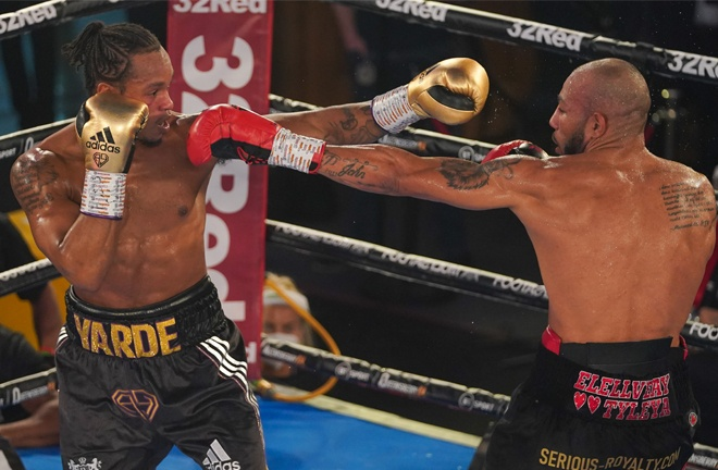 Arthur's jab proved crucial in victory over Yarde Photo Credit: Round 'N' Bout Media/Queensberry Promotions