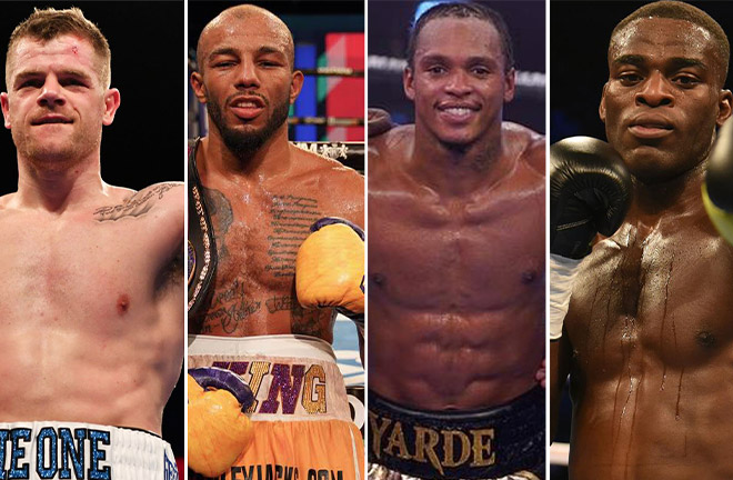 Johnson, Arthur, Yarde and Buatsi from left to right