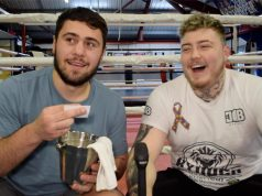 Dave Allen and Jay McFarlane took part in Pro Boxing Fans Gym Mates