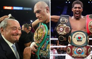Bob Arum says he is almost certain Anthony Joshua and Tyson Fury will meet this year Photo Credit: Mikey Williams/Top Rank/Mark Robinson/Matchroom Boxing