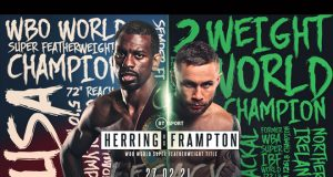 Jamel Herring defends his WBO Super Featherweight world title against Carl Frampton on February 27 in London