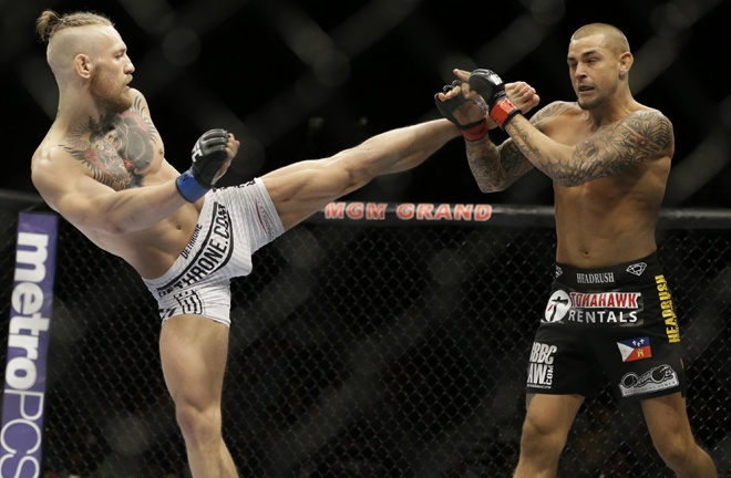 McGregor rematches Dustin Poirier at UFC 257 on January 24 Photo Credit: John Locher/Associated Press