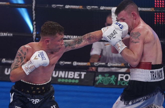 Carl Frampton stopped Darren Traynor in seven rounds in August Photo Credit: Round 'N' Bout Media/Queensberry Promotions