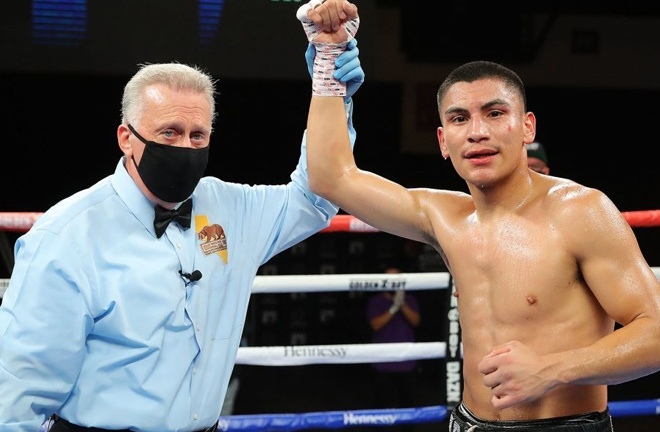 Vergil Ortiz has stormed to 16 straight victories by knockouts Photo Credit: Tom Hogan/HoganPhotos/Golden Boy Promotions