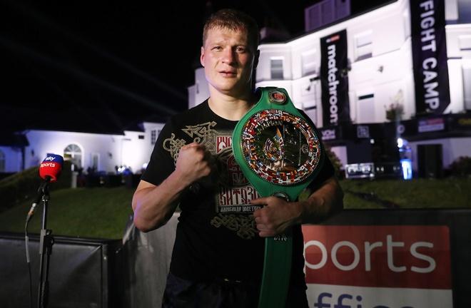 Povetkin is the WBC Interim champion Photo Credit: Mark Robinson/Matchroom Boxing