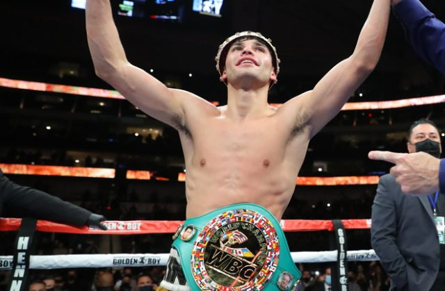 Garcia was crowned WBC Interim Lightweight champion after stopping Campbell Photo Credit: Tom Hogan-Hogan Photos/Golden Boy