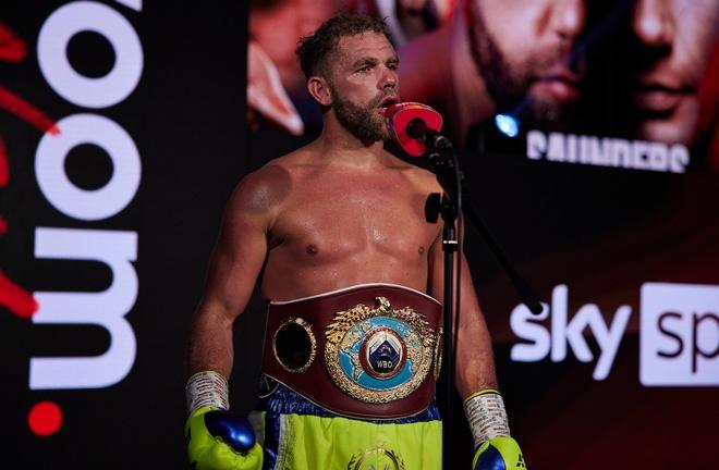Billy Joe Saunders holds the WBO belt Photo Credit: Mark Robinson/Matchroom Boxing