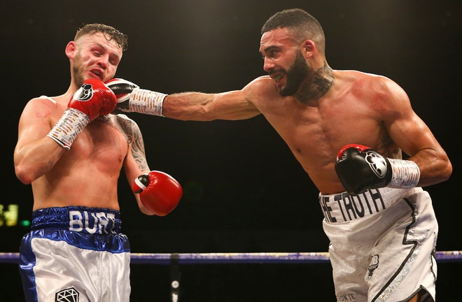 Tomlinson stopped Stewart Burt in nine rounds in Sheffield in February Photo Credit: Dave Thompson/Matchroom Boxing
