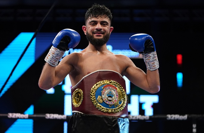 Ahmed is now the WBO European and IBF European Super Flyweight champion Photo Credit: Round 'N' Bout Media/Queensberry Promotions