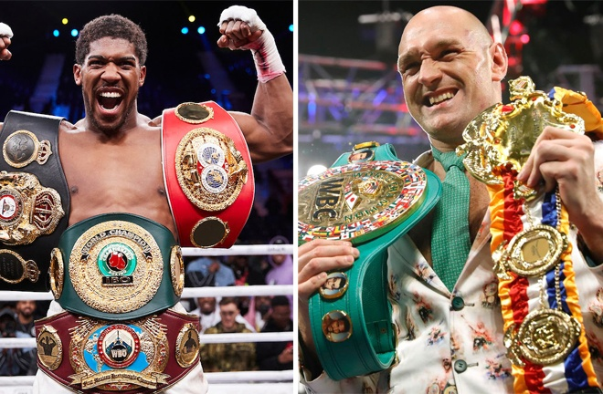 Anthony Joshua and Tyson Fury are on course for an undisputed Heavyweight showdown Photo Credit: Mark Robinson/Matchroom Boxing/Reuters