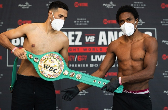 David Benavidez lost his WBC Super Middleweight title at the scales ahead of his fight with Roamer Alexis Angulo Photo Credit: Amanda Westcott/SHOWTIME