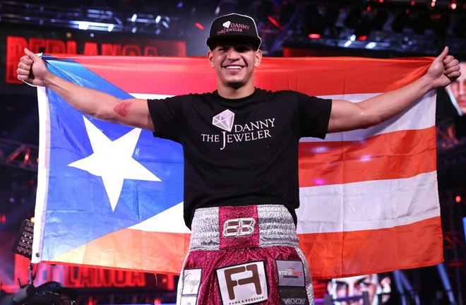 Zayas is hoping to become 2021 prospect of the year, taking over from 2020 winner, Edgar Berlanga Photo Credit: Mikey Williams/Top Rank