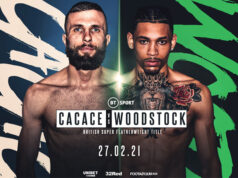 Anthony Cacace defends his British Super Featherweight title against Lyon Woodstock on Saturday night