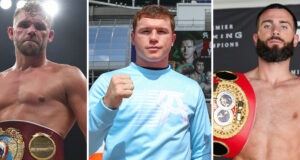 Canelo Alvarez is looking to secure unifications with Billy Joe Saunders and Caleb Plant, providing he overcomes Avni Yildirim on Saturday Photo Credit: MTK Global/Ed Mulholland/Matchroom/FOX Sports