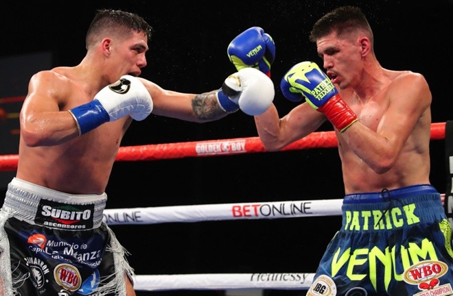 Brian Castano became the new WBO Super Welterweight champion, ripping the belt away from Patrick Teixeira Photo Credit: Tom Hogan-Hogan Photos/Golden Boy Promotions