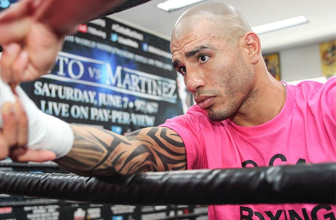Miguel Cotto was Xander's hero growing up Photo Credit: Mikey Williams/Top Rank