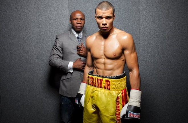 Chris Eubank Jr alongside father and former Super Middleweight world champion, Chris Eubank Sr Photo Credit: Mark Robinson/Poxon Sports