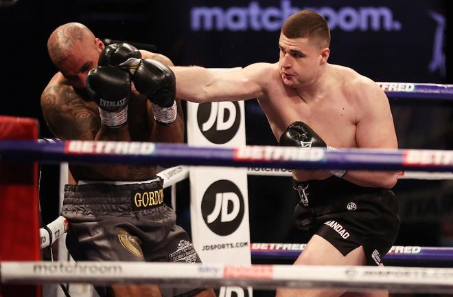 Fisher overpowered Matt Gordon to make a winning start to his professional career Photo Credit: Mark Robinson/Matchroom Boxing