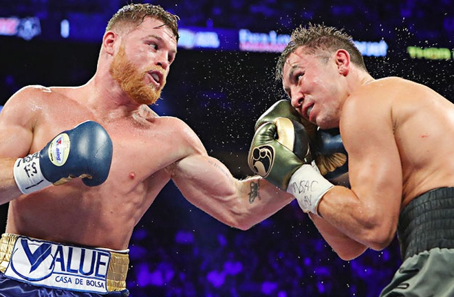 A third fight with Gennady Golovkin awaits Canelo if he goes back down to 160lbs Photo Credit: Tom Hogan-Hogan Photos/Golden Boy