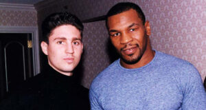 Peter Kahn alongside Mike Tyson, whom he worked with for his comeback fight against Peter McNeeley in 1995 Photo Credit: Fight Game Advisors