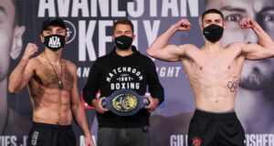 Josh Kelly and David Avanesyan made weight ahead of their European Welterweight title clash on Saturday night Photo Credit: Mark Robinson/Matchroom Boxing