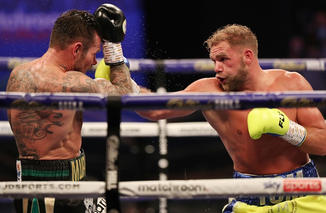Saunders defended his WBO title with a dominant win over Martin Murray in December Photo Credit: Mark Robinson/Matchroom Boxing