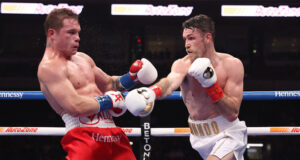 Callum Smith was beaten for the first time by Canelo Alvarez in December Photo Credit: Ed Mulholland/Matchroom Boxing