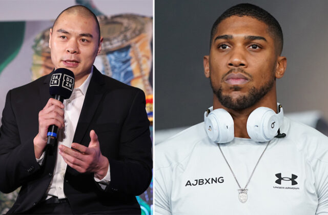 Zhilei Zhang is hopeful of facing Anthony Joshua in the future Photo Credit: Melina Pizano/Dave Thompson/Matchroom Boxing