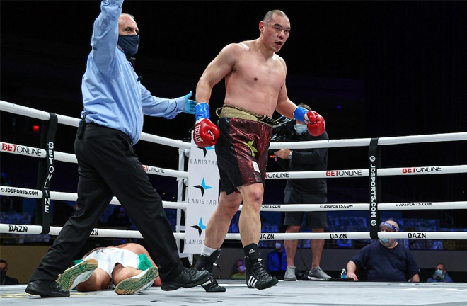 Zhang produced a destructive fourth round win over Devin Vargas in November Photo Credit: Ed Mulholland/Matchroom