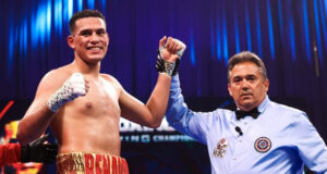 David Benavidez remained on course for another world title with victory over Ronald Ellis on Saturday Photo Credit: Amanda Westcott/SHOWTIME