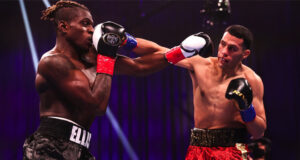 David Benavidez stayed on course for another world title opportunity with an 11th round stoppage of Ronald Ellis on Saturday Photo Credit: Amanda Westcott/SHOWTIME