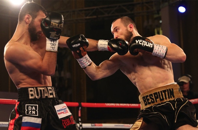 Alexander Besputin returns following a later ruled no contest with Radzhab Butaev in November 2019 Photo Credit: Mark Robinson/Matchroom Boxing