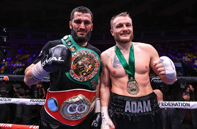 Beterbiev and Deines embraced after their fight Photo Credit: Top Rank
