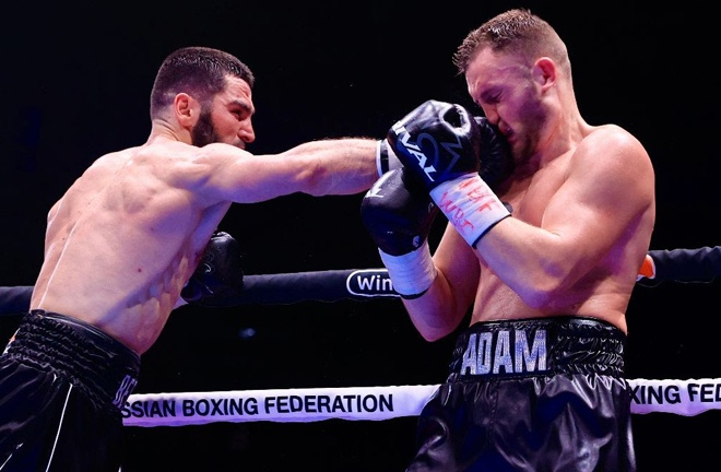 The Russian dominated proceedings in his first fight in his homeland Photo Credit: Top Rank