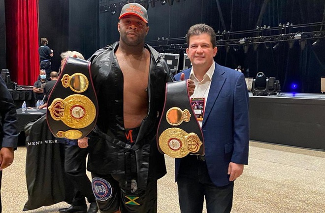 Trevor Bryan claimed the vacant WBA 'Regular' heavyweight title in January Photo Credit: Don King