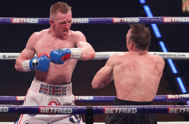 Ted Cheeseman scored a showreel 11th round knockout of JJ Metcalf Photo Credit: Mark Robinson/Matchroom Boxing