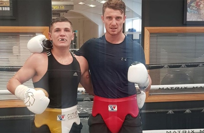 Cutler and Rea sparred in 2019 Photo Credit: Instagram @leecutler_tct