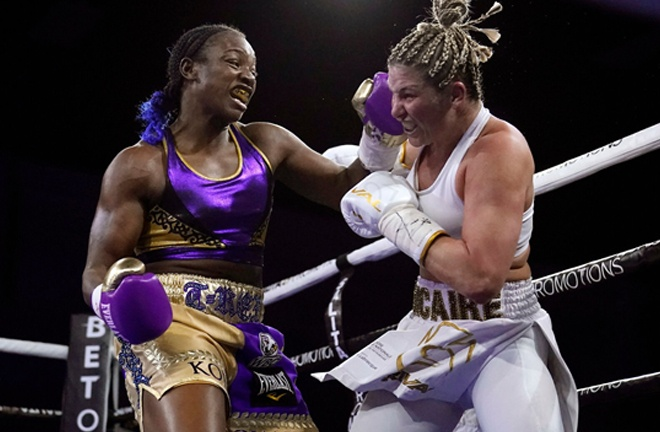 Shields dominated former IBF champion Dicaire in her hometown Photo Credit: Carlos Osorio/Associated Press