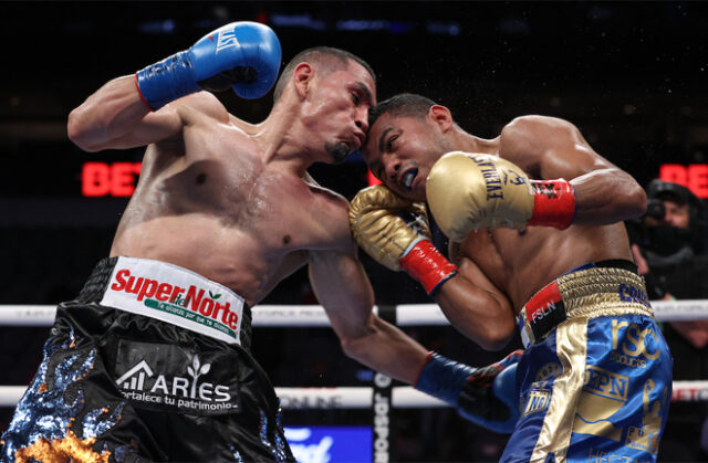 Juan Estrada avenged his 2012 defeat to Roman 'Chocolatito' Gonzalez with a split decision win in arguably the fight of the year so far in Dallas on Saturday Photo Credit: Estrada became unified WBC and WBA Super Flyweight champion Photo Credit: Ed Mulholland/Matchroom